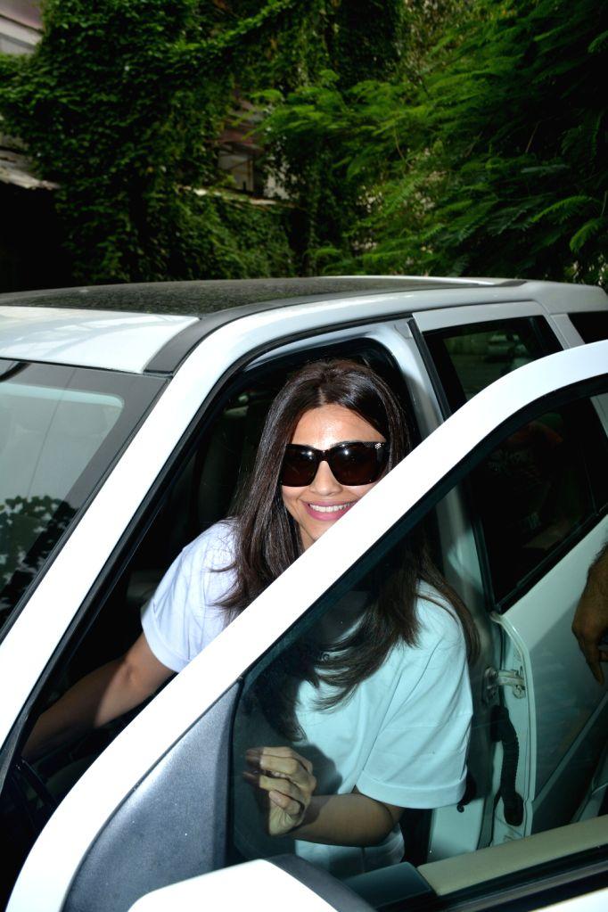 Actress Daisy Shah seen at Mumbai's Bandra on July 29, 2018. - Daisy Shah