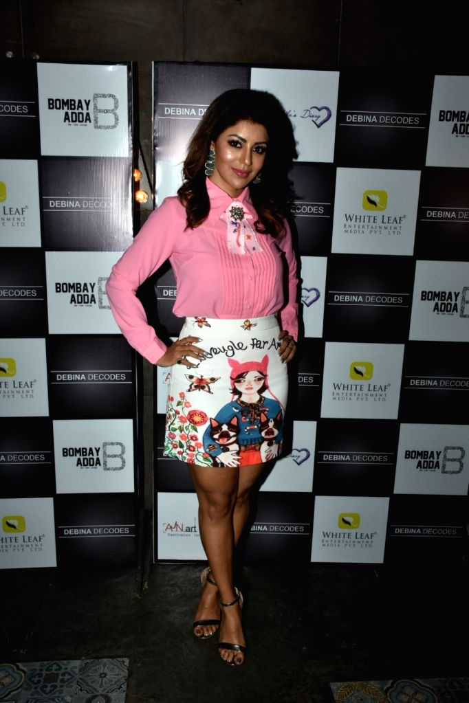 Actress Debina Bonnerjee at the launch of her YouTube channel in Mumbai on April 6, 2018. - Debina Bonnerjee
