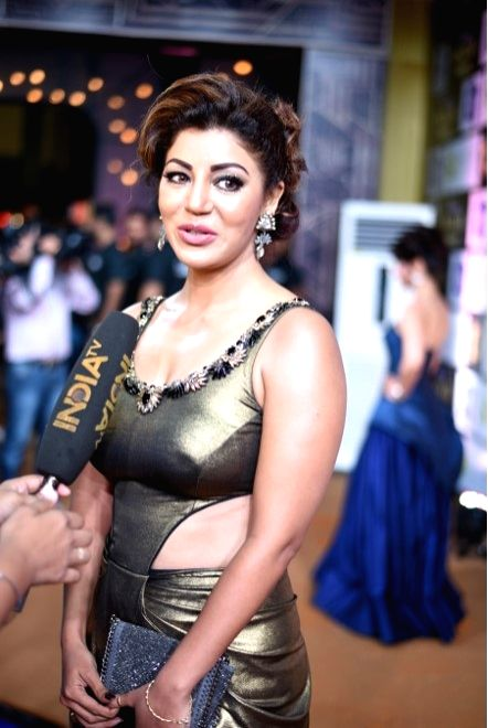 Actress  Debina Bonnerjee during the 10th Gold Awards 2017 in Mumbai on July 5, 2017. - Debina Bonnerjee