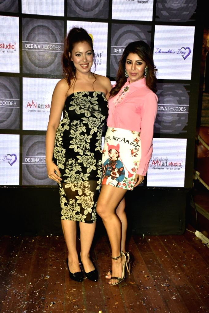 Actress Debina Bonnerjee with Rochelle Rao at the launch of her YouTube channel in Mumbai on April 6, 2018. - Debina Bonnerjee and Rochelle Rao
