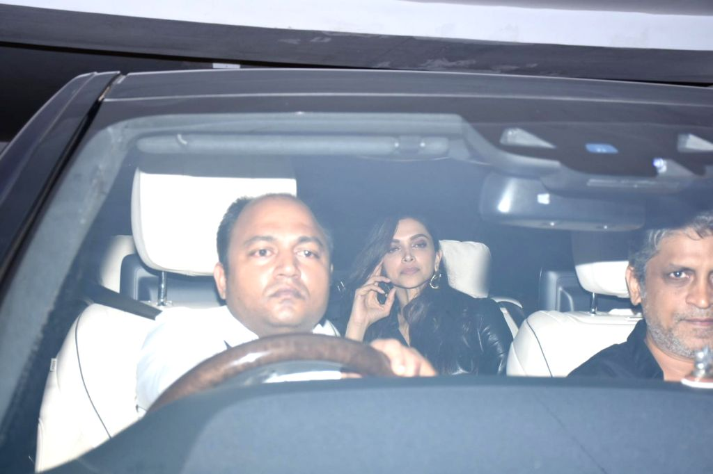 Actress Deepika Padukone arrives at filmmaker Karan Johar's house party in Mumbai, on July 27, 2019. - Deepika Padukone
