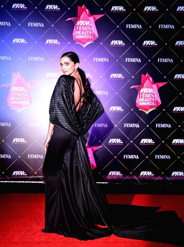 Actress Deepika Padukone at Nykaa Femina Beauty Awards 2019, in Mumbai, on Feb 20, 2019. - Deepika Padukone