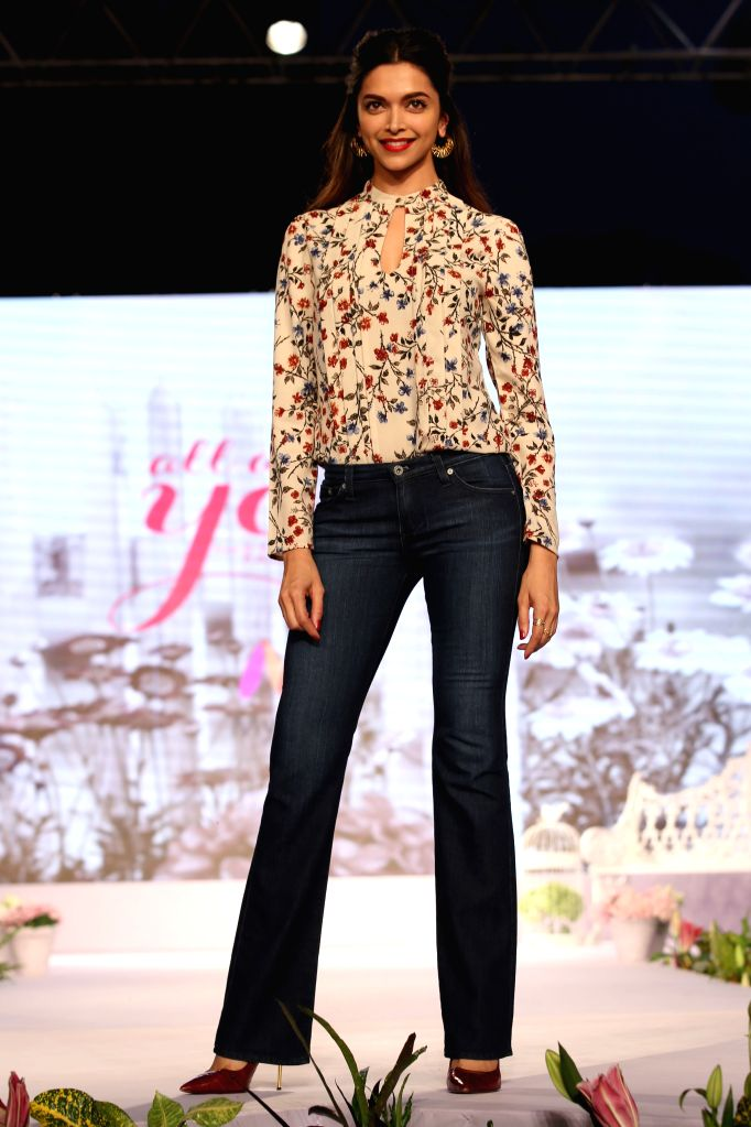 Actress Deepika Padukone at the launch of an apparel brand in New Delhi, on Oct 20, 2015.