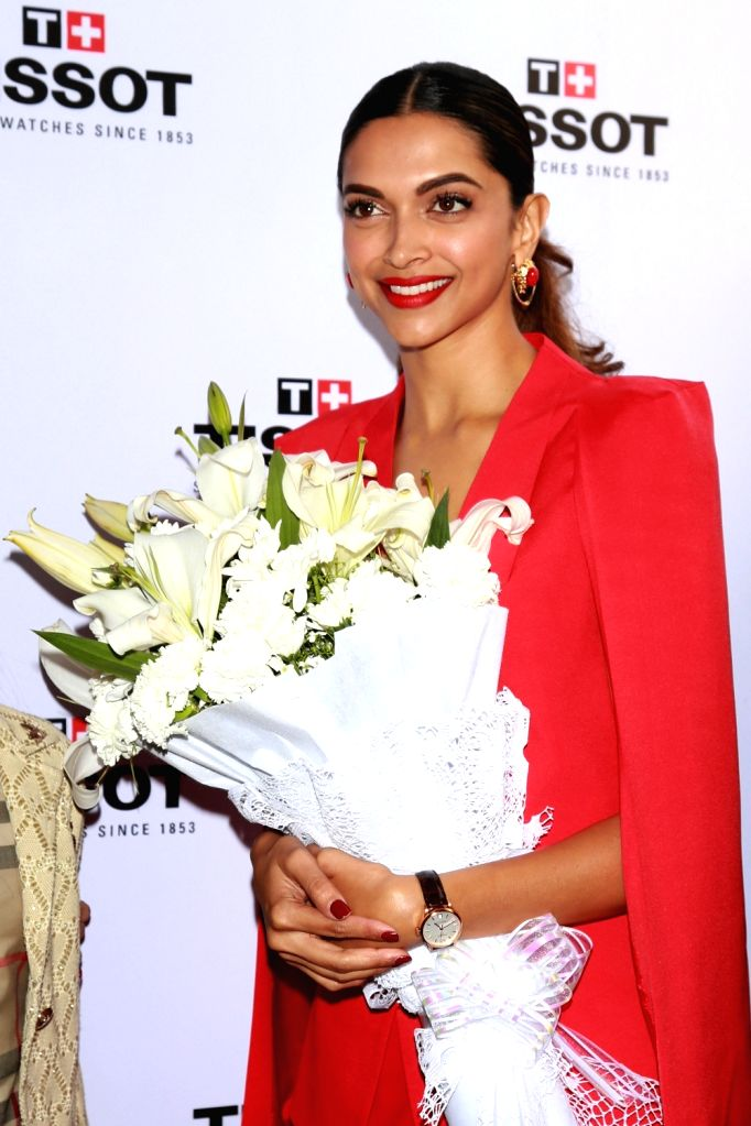 Actress Deepika Padukone at the launch of new collection of watches in New Delhi, on Jan 20, 2016.