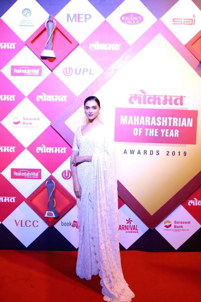 Actress Deepika Padukone at the Lokmat Maharashtrian of the Year Awards 2019 in Mumbai, on Feb 20, 2019. - Deepika Padukone