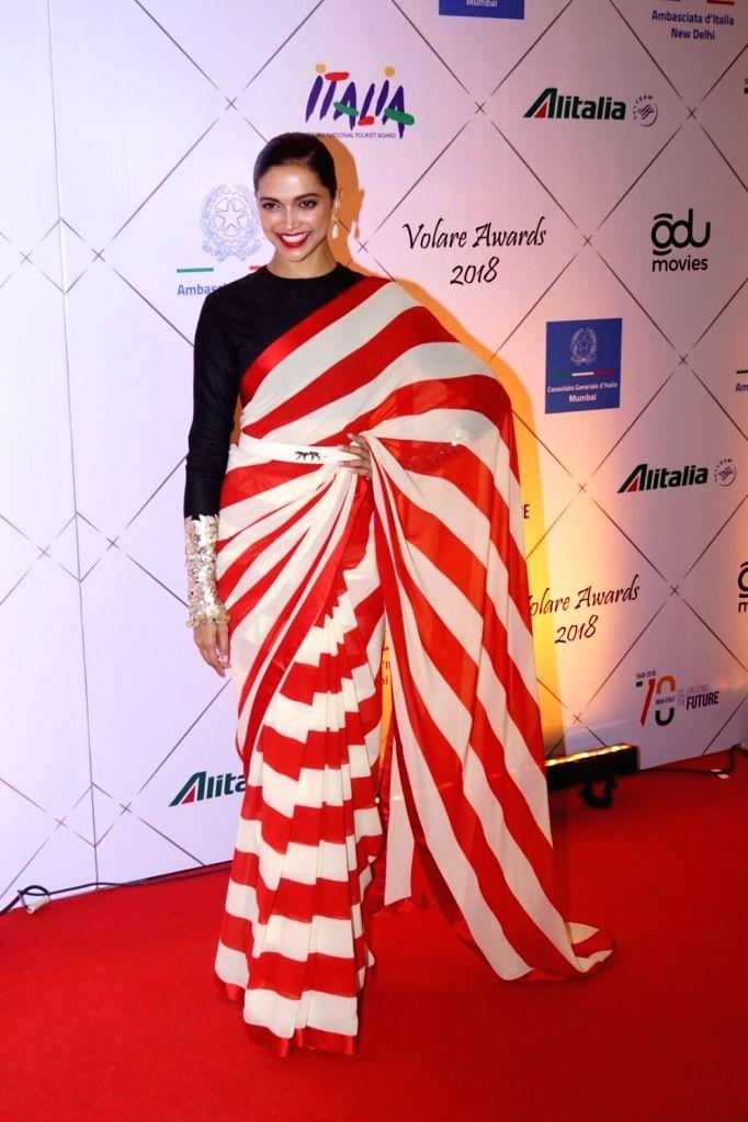 Actress Deepika Padukone at the red carpet of Volare Awards 2018 in Mumbai on Feb 9, 2018. - Deepika Padukone