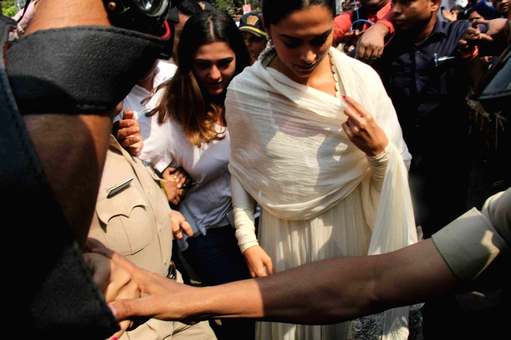 Actress Deepika Padukone during a visit to Siddhivinayak temple in Mumbai on Jan 23, 2018. - Deepika Padukone