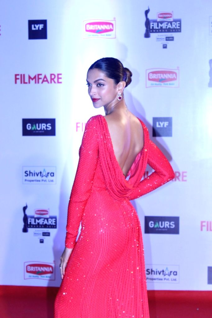 Actress Deepika Padukone during the 61st Britannia Filmfare Awards in Mumbai on January 15, 2016. - Deepika Padukone