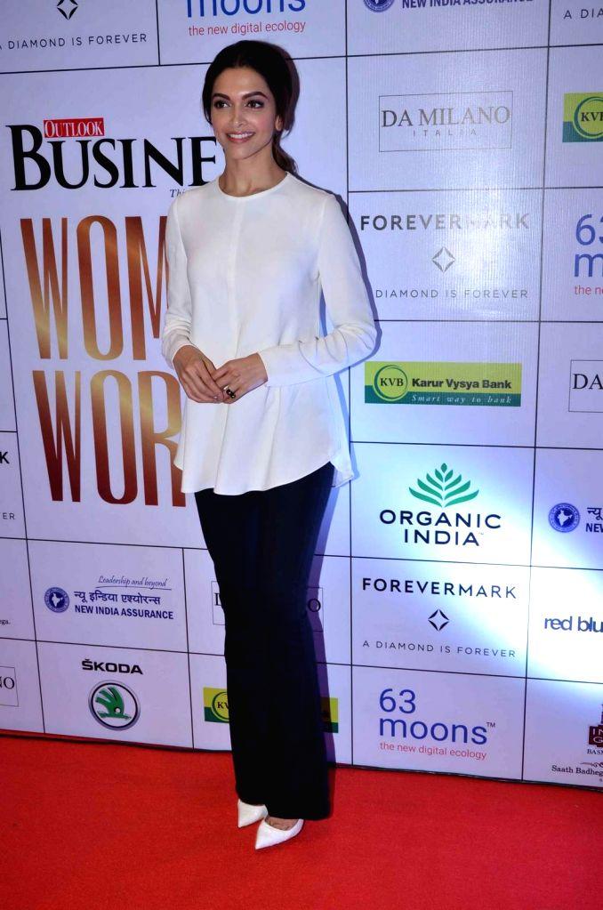Actress Deepika Padukone during the Business Women Entrepreneurs- The Super Achievers in Mumbai on Oct 21, 2015. - Deepika Padukone