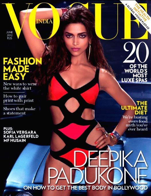 Actress Deepika Padukone on the cover of Vogue. - Deepika Padukone