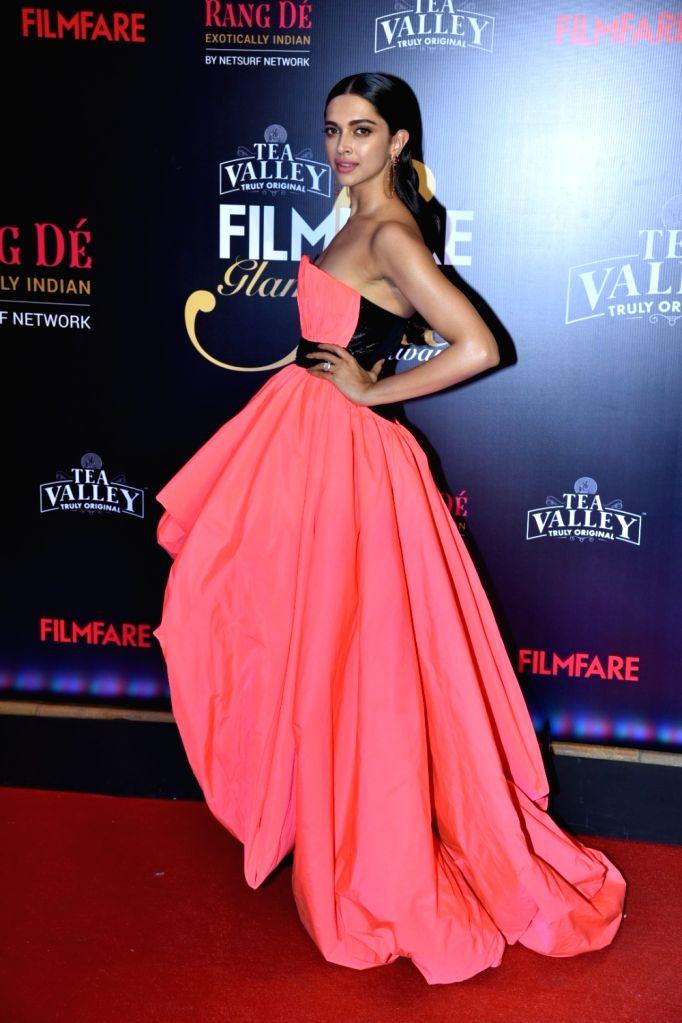 Actress Deepika Padukone on the red carpet of Filmfare Glamour And Style Awards 2019, in Mumbai on Feb 11, 2019. - Deepika Padukone
