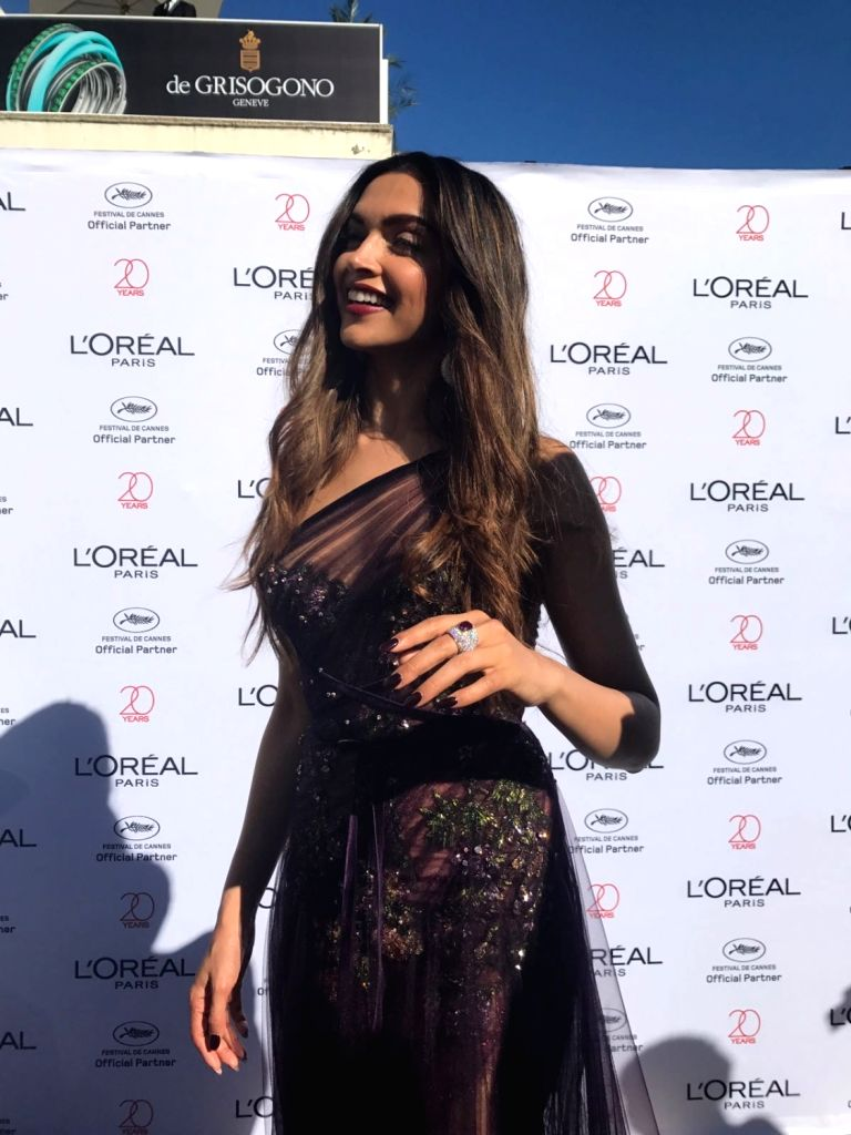 Actress Deepika Padukone on the red carpet of the Cannes Film Festival in Cannes, France on May 17, 2017. - Deepika Padukone