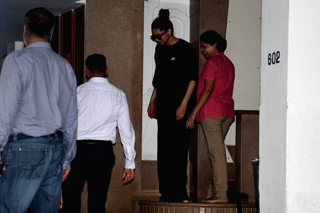 Actress Deepika Padukone seen at a clinic at Bandra in Mumbai on Nov 5, 2019. - Deepika Padukone