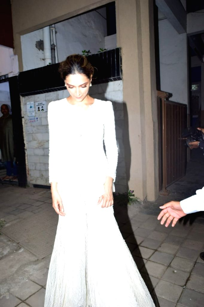 Actress Deepika Padukone seen at actor Siddhant Chaturvedi's residence in Mumbai's Juhu on Nov 13, 2020. - Deepika Padukone