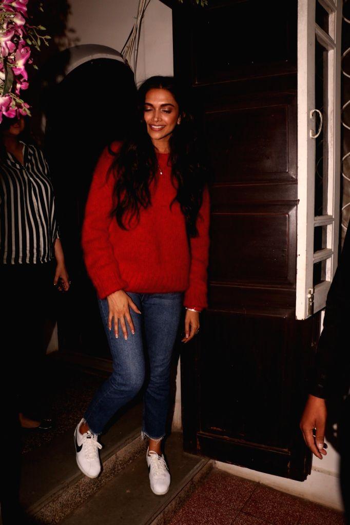 Actress Deepika Padukone seen at Krome studio in Mumbai's Bandra on Dec 7, 2018. - Deepika Padukone