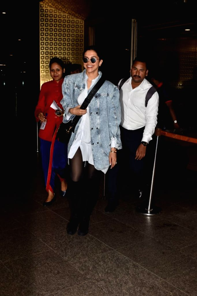 Actress Deepika Padukone seen at Mumbai airport on July 16, 2019. - Deepika Padukone