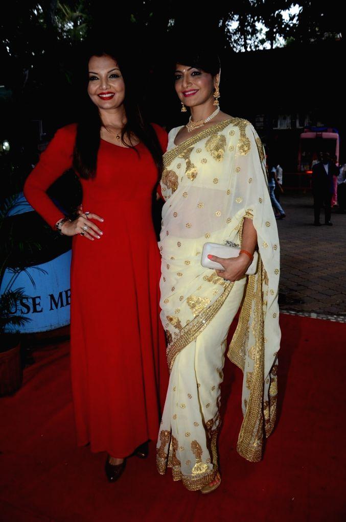 Actress Deepshikha Nagpal and her sister and actress Aackruti Nagpal during the 8th Golden Camera Film and Television Awards 2016 in Mumbai on July 9, 2016. - Deepshikha Nagpal