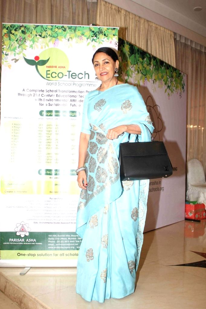 Actress Deepti Naval at the seminar on The Art of Learning for Sustainable Tomorrow, in Mumbai on January 14, 2016. - Deepti Naval
