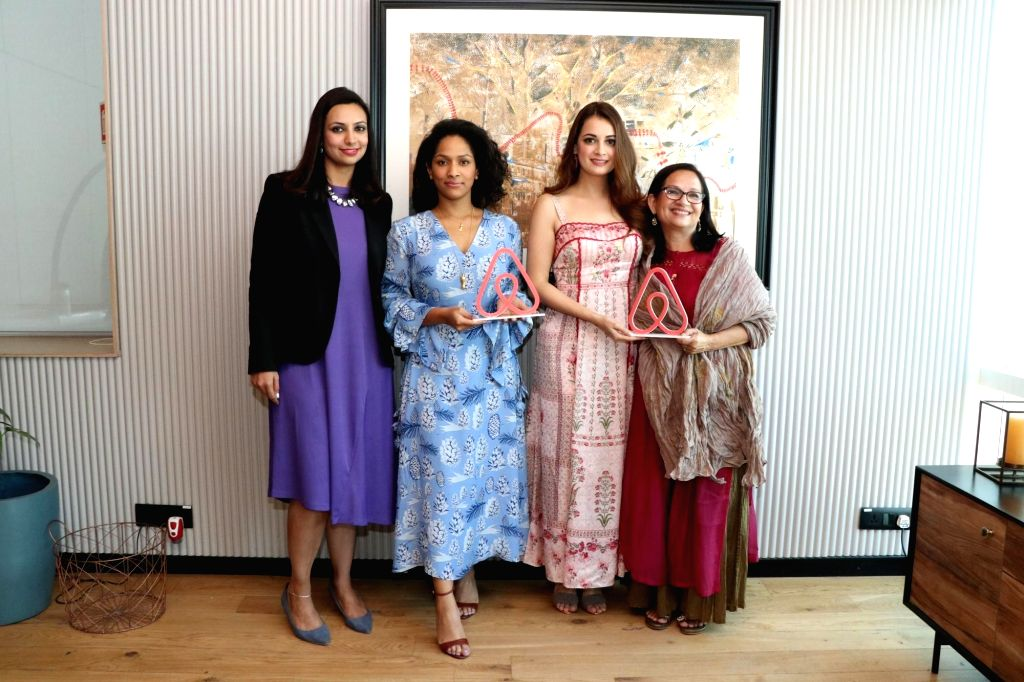Actress Dia Mirza and fashion designer Masaba Gupta during a programme in Mumbai, on March 6, 2019. - Dia Mirza and Masaba Gupta