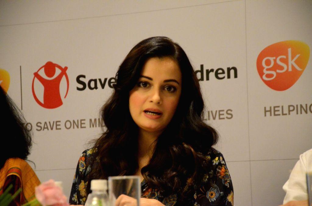 Actress Dia Mirza announces Healthcare Innovation Award 2017 at Mayfair Banquets in Mumbai on June 2, 2017. - Dia Mirza