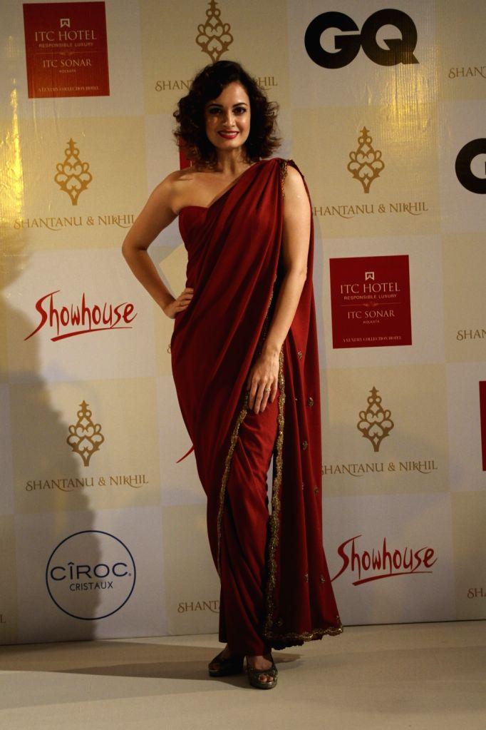 Actress Dia Mirza during a fashion show in Kolkata on Nov 15, 2015.