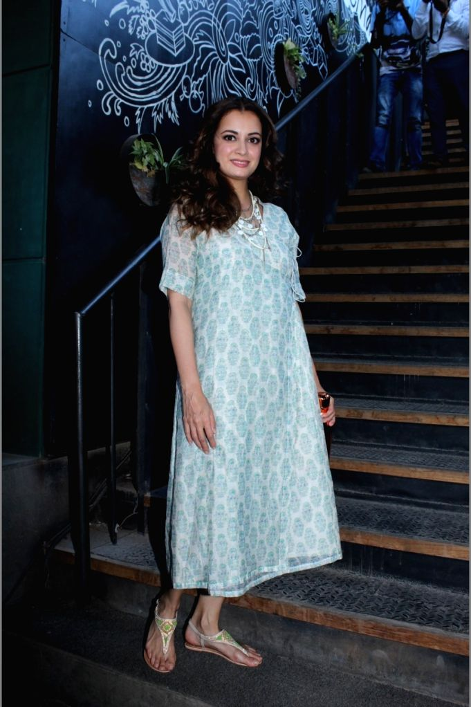 Actress Dia Mirza during a programme in in Mumbai, on May 9, 2019. - Dia Mirza