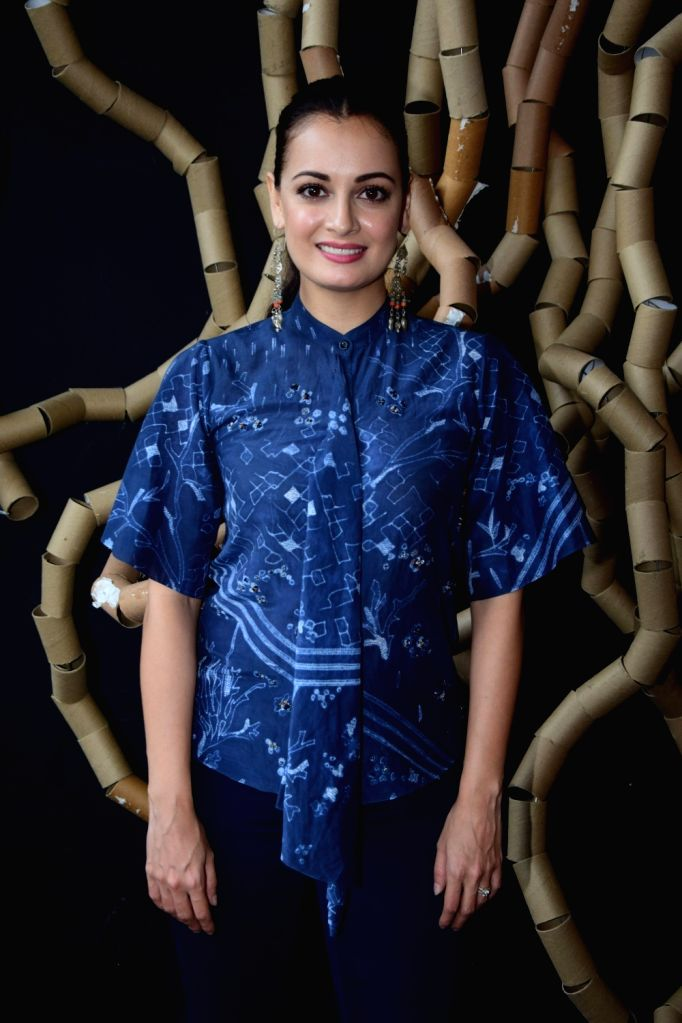 Actress Dia Mirza during a programme in Mumbai on Jan 23, 2018. - Dia Mirza