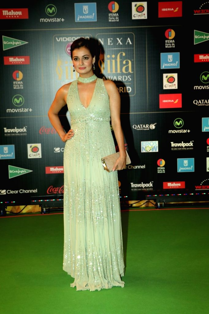 Actress  Dia Mirza during IIFA Awards in Madrid on June 26, 2016. - Dia Mirza