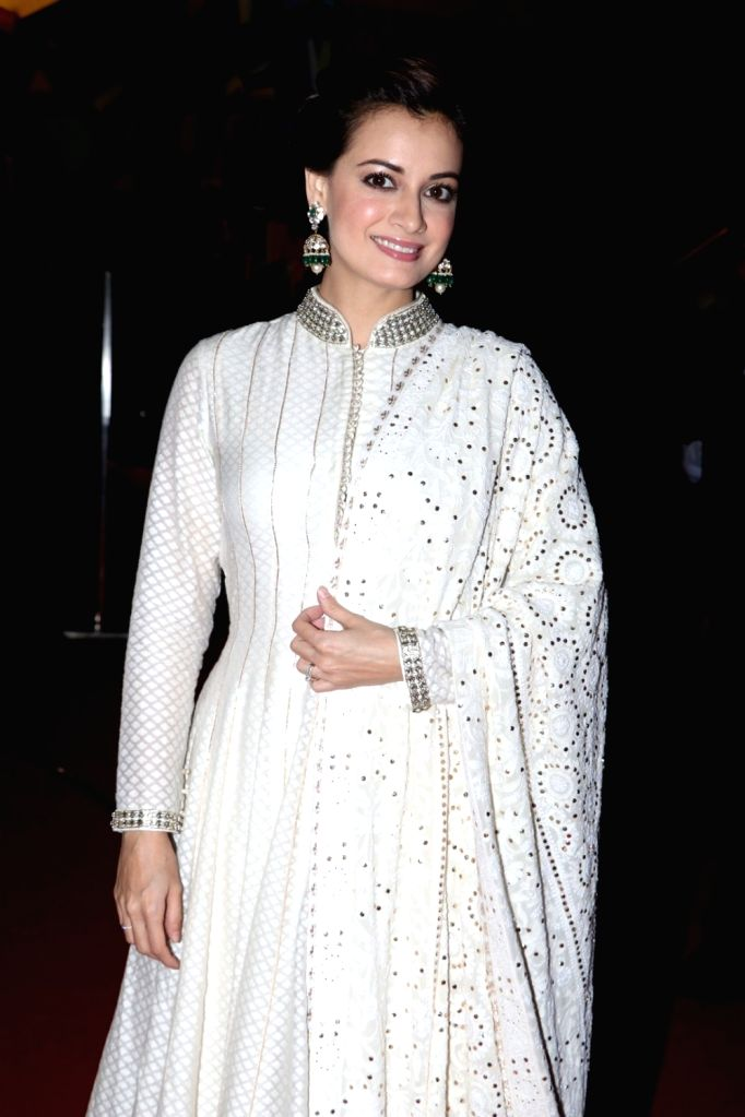 Actress Dia Mirza during Jewellers for Hope Charity Dinner event in Mumbai, on Aug 4, 2016. - Dia Mirza