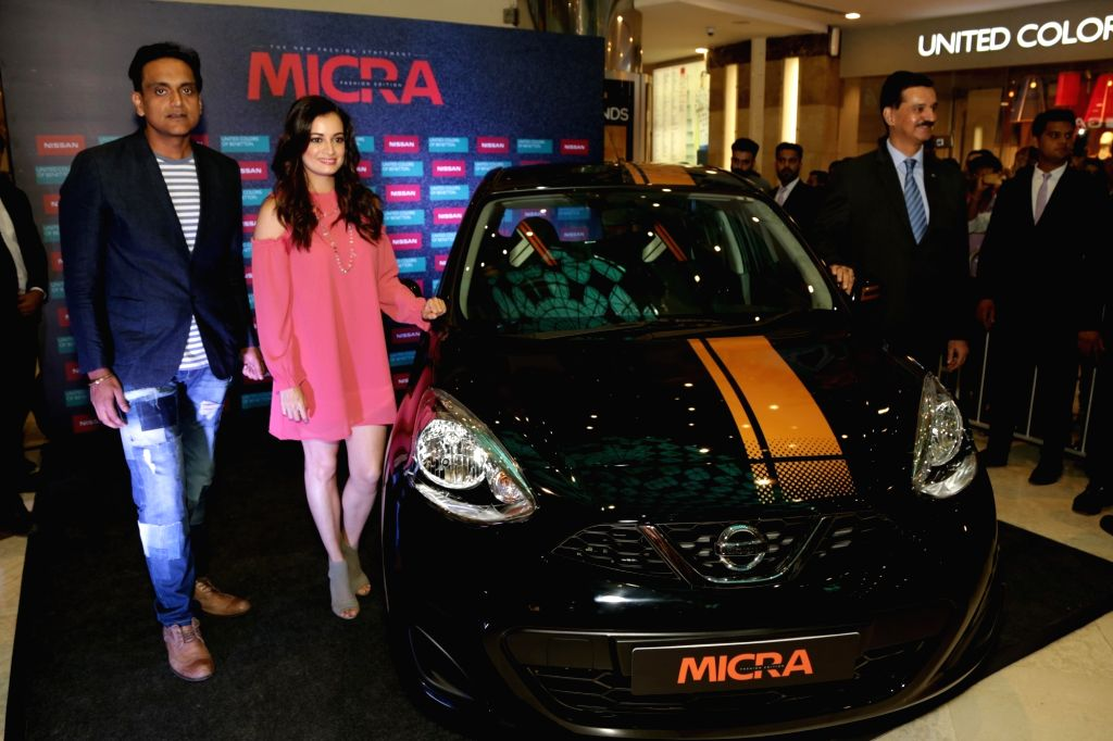 "Actress Dia Mirza during the launch of Nissan Micra's ""Fashion Variant"" in Gurugram on Sept 12, 2017. - Dia Mirza"