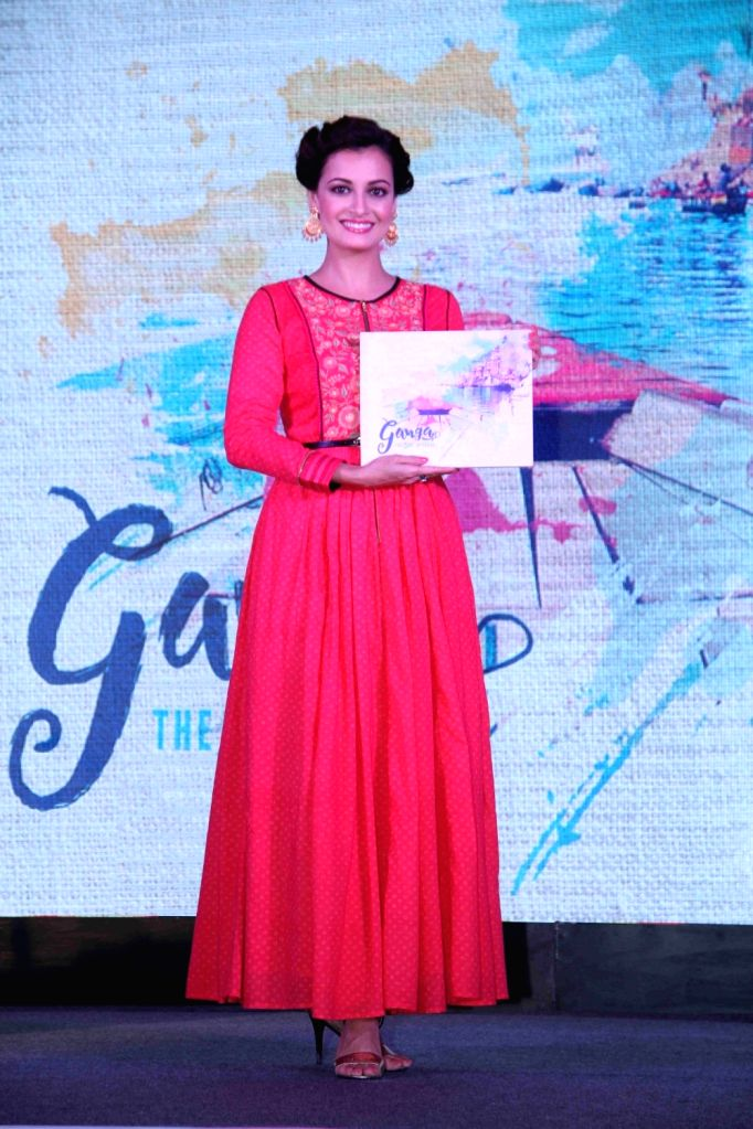 Actress Dia Mirza during the launch of television travel show titled Ganga The Soul of India, in Mumbai on April 19, 2016. - Dia Mirza