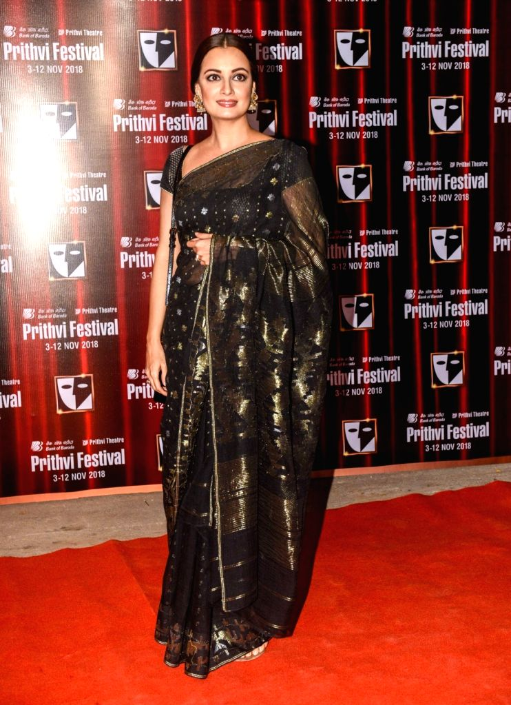 Actress Dia Mirza during the Prithvi festival's opening ceremony in Mumbai on Nov 3, 2018. Prithvi Theatre celebrates 40 years. The festival began on November 3 and will end on November 12. - Dia Mirza