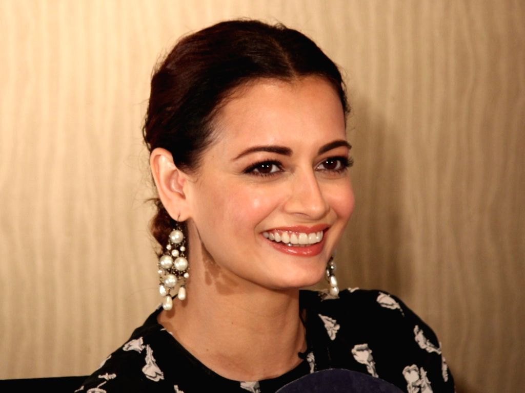 "Actress Dia Mirza during the promotions of her upcoming web series ""Kaafir"" in New Delhi, on June 12, 2019. - Dia Mirza"