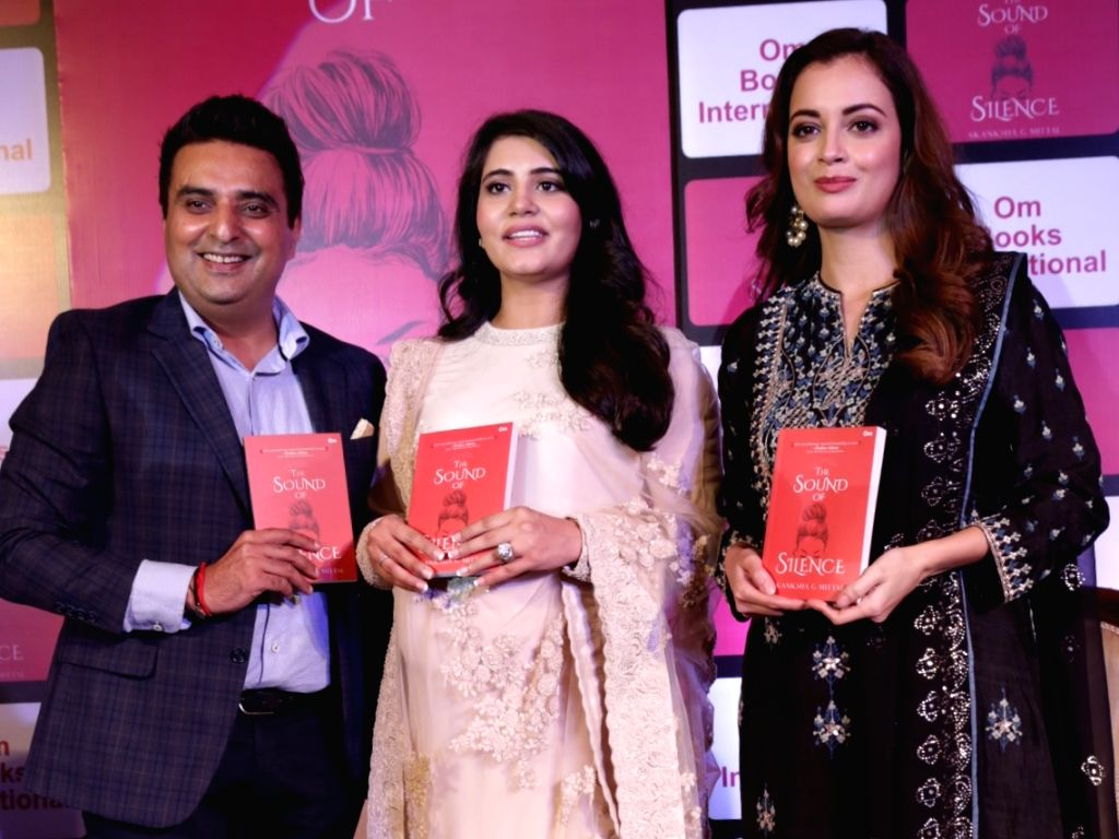 "Actress Dia Mirza during the release of the book ""The Sound of Silence"" authored by Akanksha G Mittal, in New Delhi on Sept 5, 2018. - Dia Mirza"