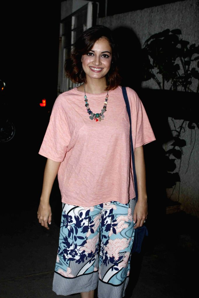 Actress Dia Mirza during the screening of film Jaanisaar in Mumbai, on August 6, 2015. - Dia Mirza