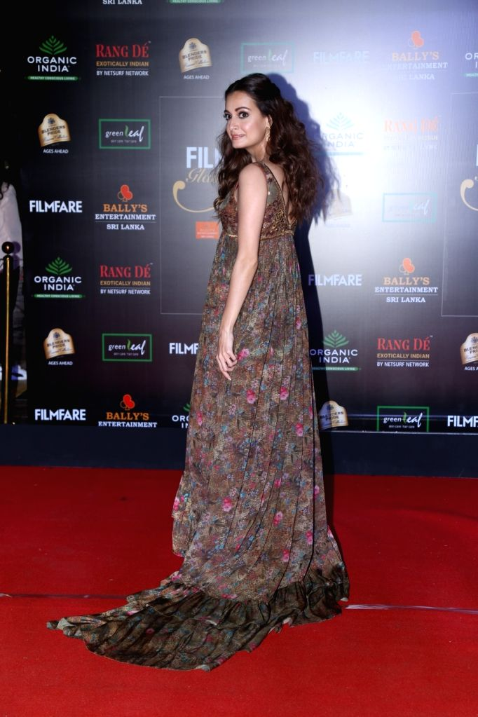 Actress Dia Mirza on the red carpet of Filmfare Glamour And Style Awards 2019 in Mumbai on Dec 3, 2019. - Dia Mirza