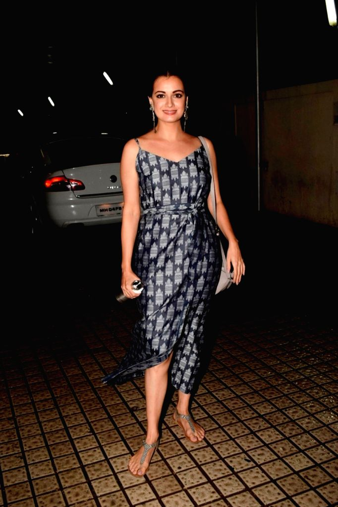 Actress Dia Mirza seen at a cinema theatre in Juhu, Mumbai on July 13, 2018. - Dia Mirza