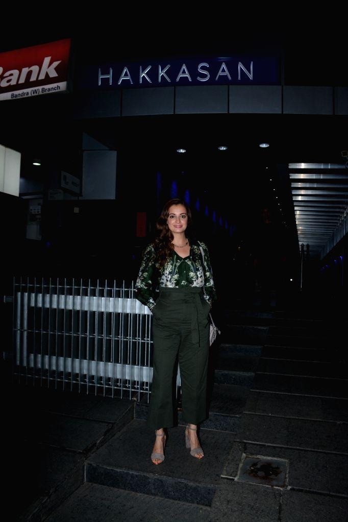 Actress Dia Mirza seen at a Mumbai restaurant on Feb 20, 2019. - Dia Mirza