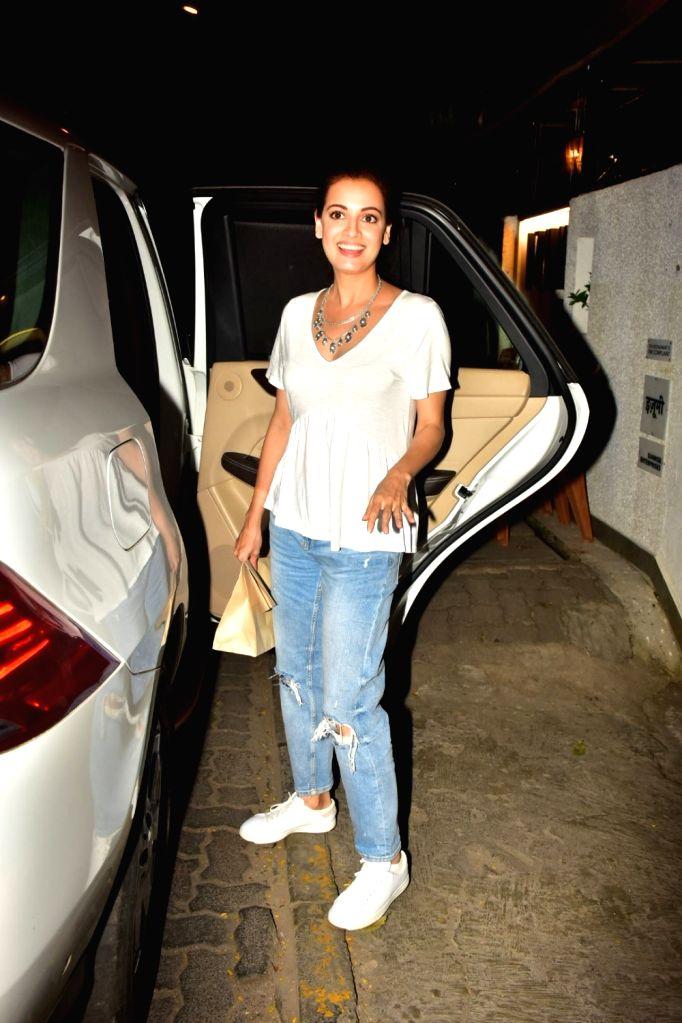 Actress Dia Mirza seen at Bandra in Mumbai on Oct 16, 2019. - Dia Mirza