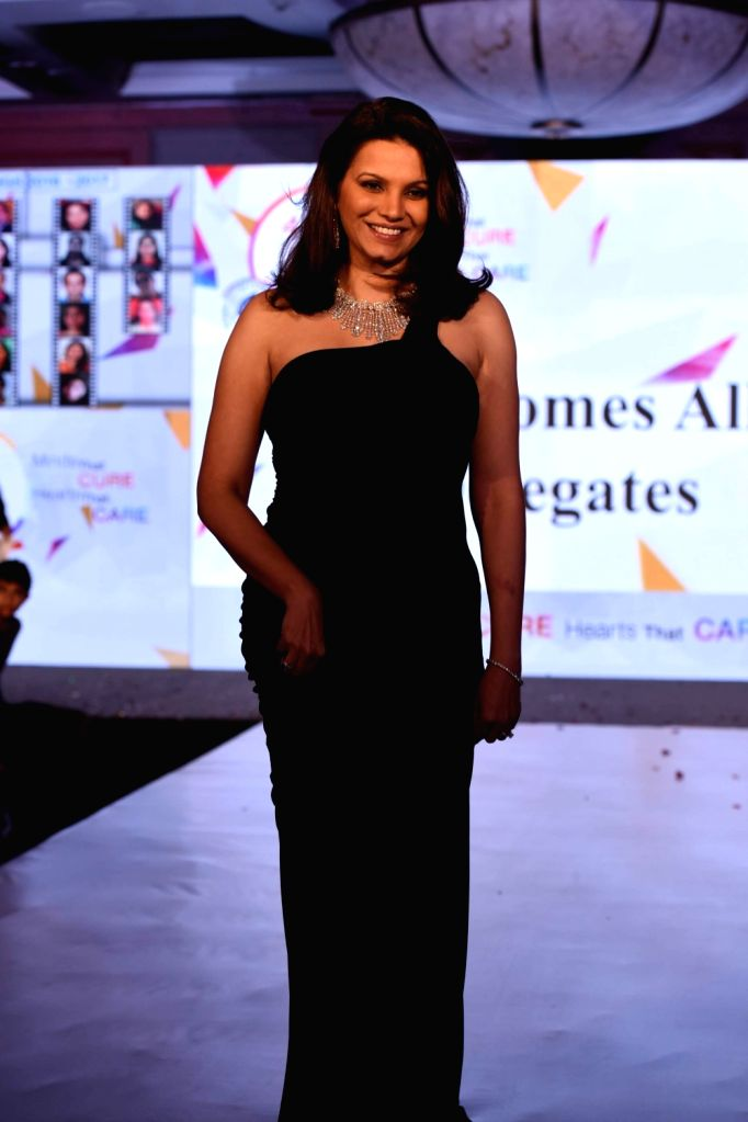 Actress Diana Hayden during the Mumbai Obstetrics and Gynecological Society's annual fashion show for Save the Girl Child cause in Mumbai on March 11, 2017. - Diana Hayden