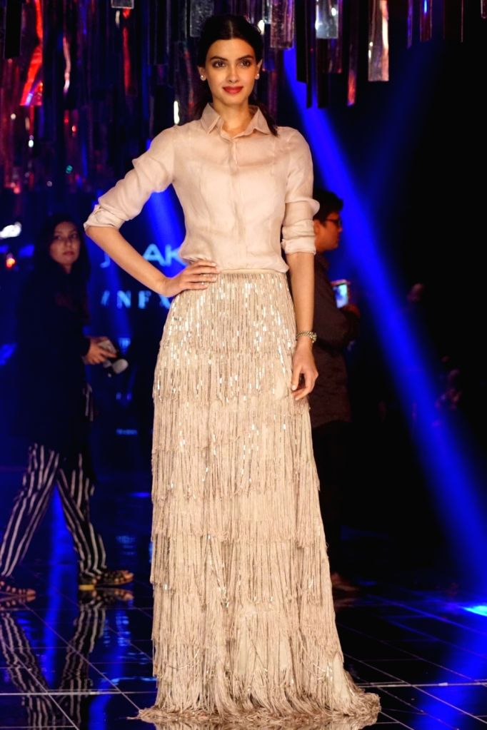 Actress Diana Penty during the Lakme Fashion Week Winter/Festive 2017 in Mumbai on Aug 20, 2017. - Diana Penty