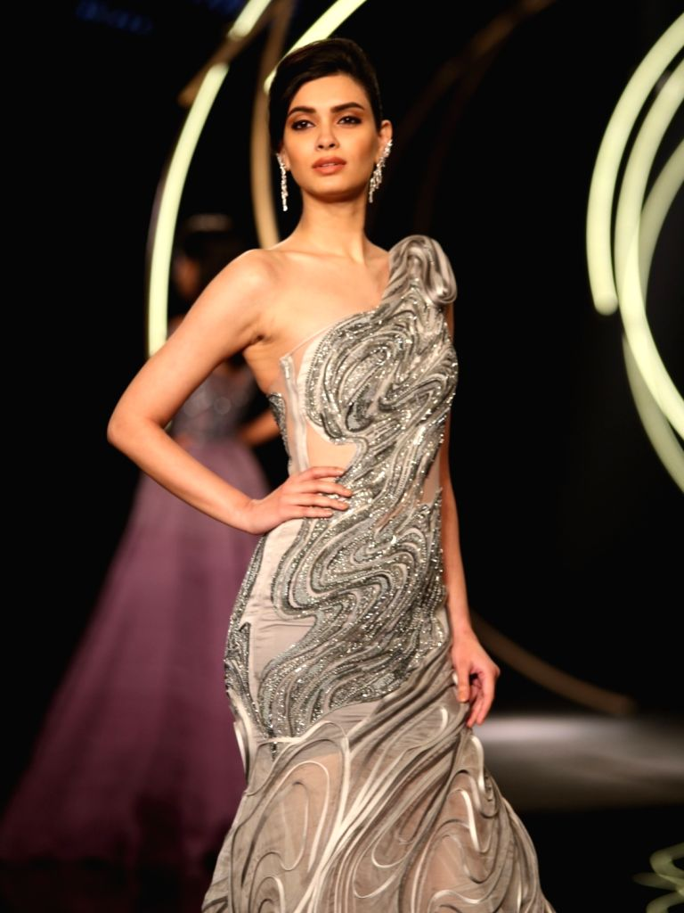 Actress Diana Penty walks the ramp for designer Gaurav Gupta at India Couture Week  on July 27, 2019 - Diana Penty and Gaurav Gupta
