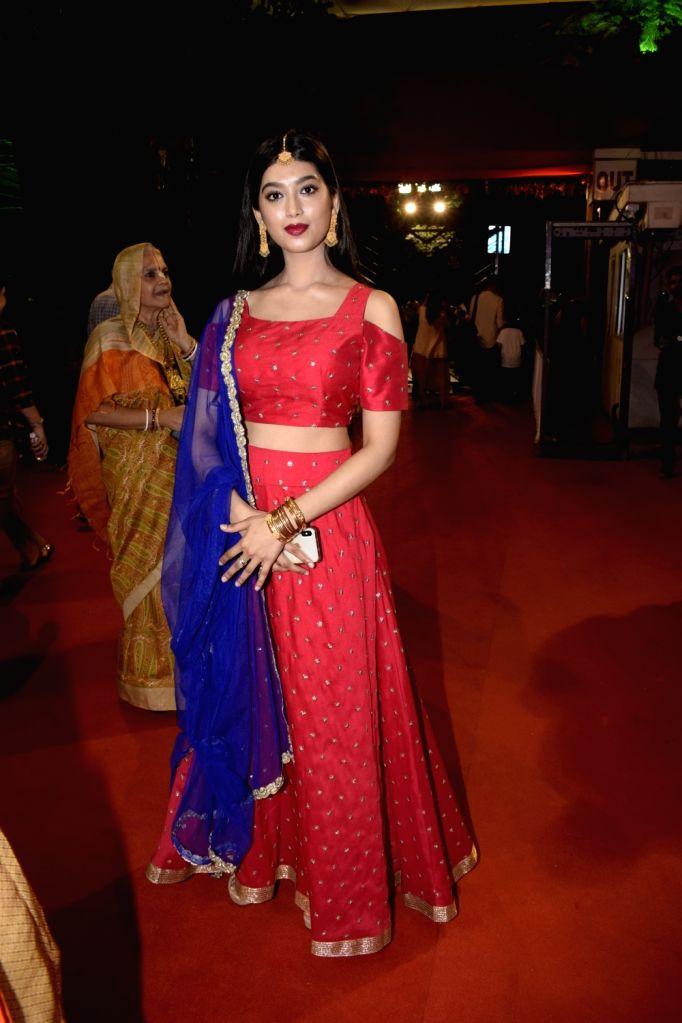 Actress Digangana Suryavanshi during Janmashtami celebrations at ISKCON temple, in Mumbai on Sept 3, 2018. - Digangana Suryavanshi