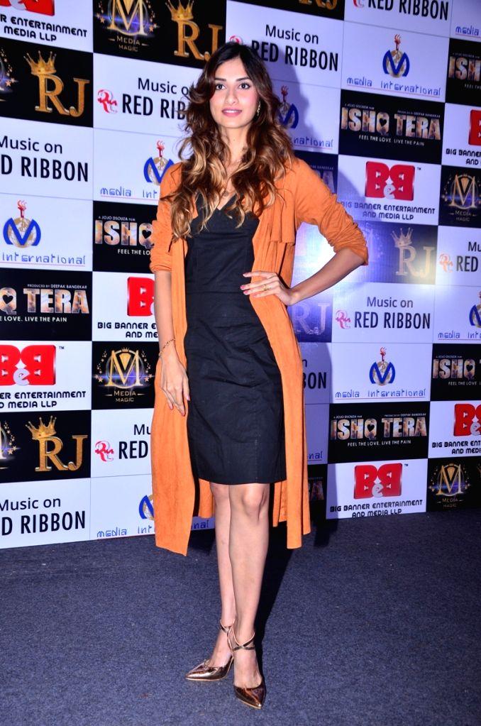 "Actress Diksha Singh during music launch of upcoming film ""Ishq Tera"" in Mumbai, on March 27, 2018. - Diksha Singh"