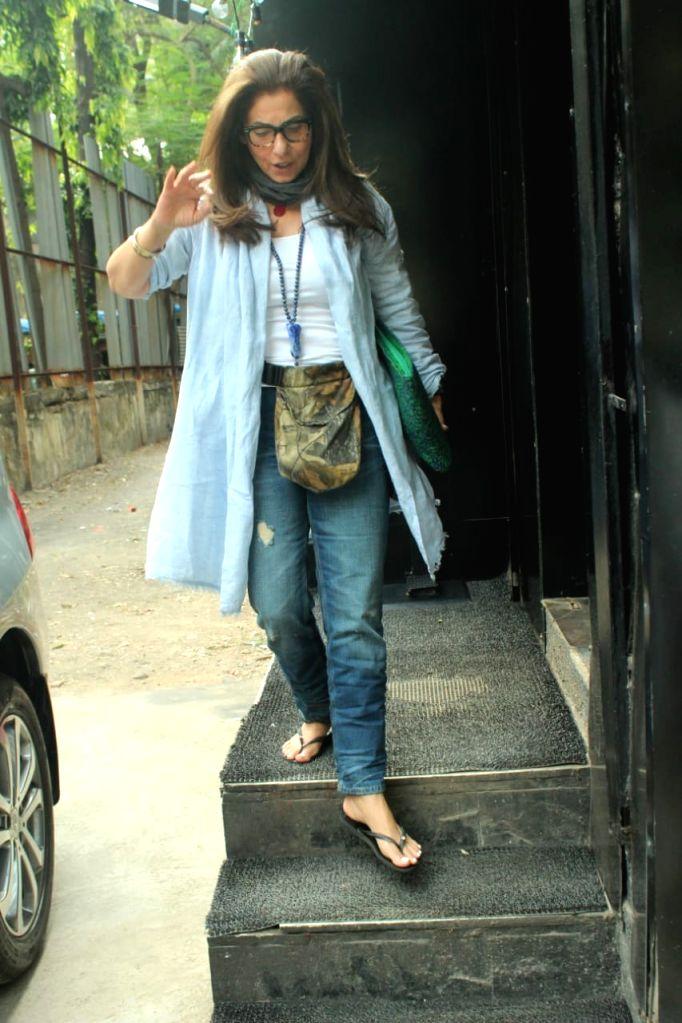 Actress Dimple Kapadia seen at Juhu in Mumbai on Nov 28, 2020. - Dimple Kapadia