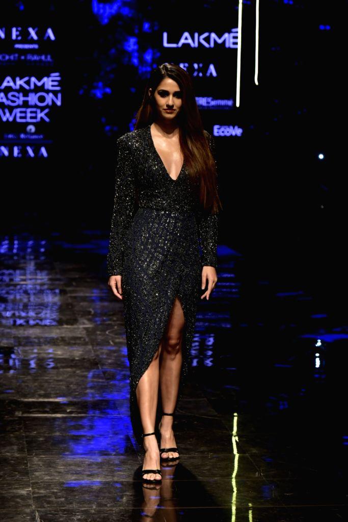 Actress Disha Patani at the Lakme Fashion Week Winter/Festive 2019 in Mumbai on Aug 24, 2019. - Disha Patani