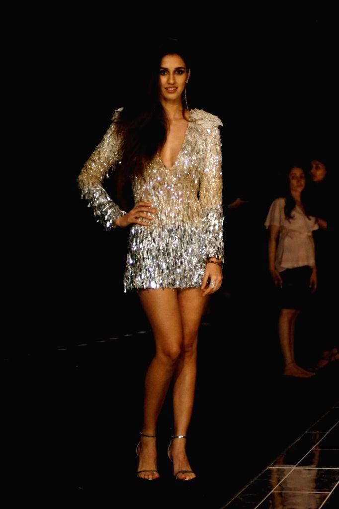 Actress Disha Patani during the Lakme Fashion Week Winter/Festive 2017 in Mumbai on Aug 20, 2017. - Disha Patani