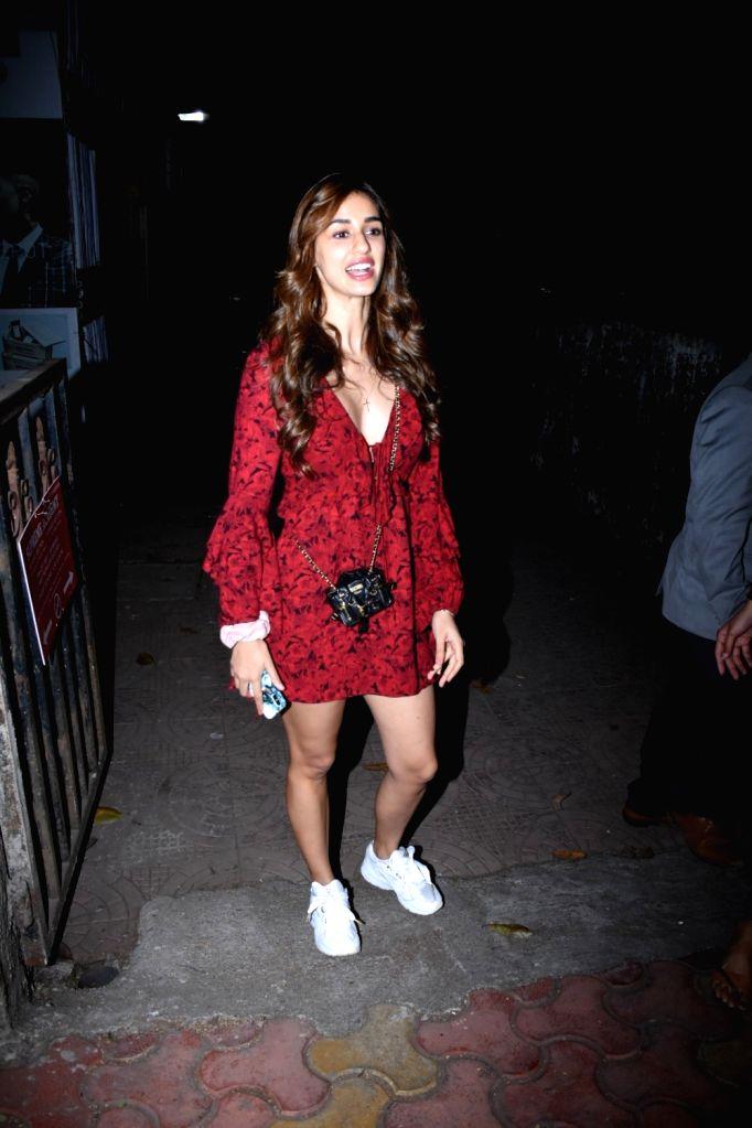 Actress Disha Patani seen at a Bandra Salon, in Mumbai on Feb 11, 2020. - Disha Patani