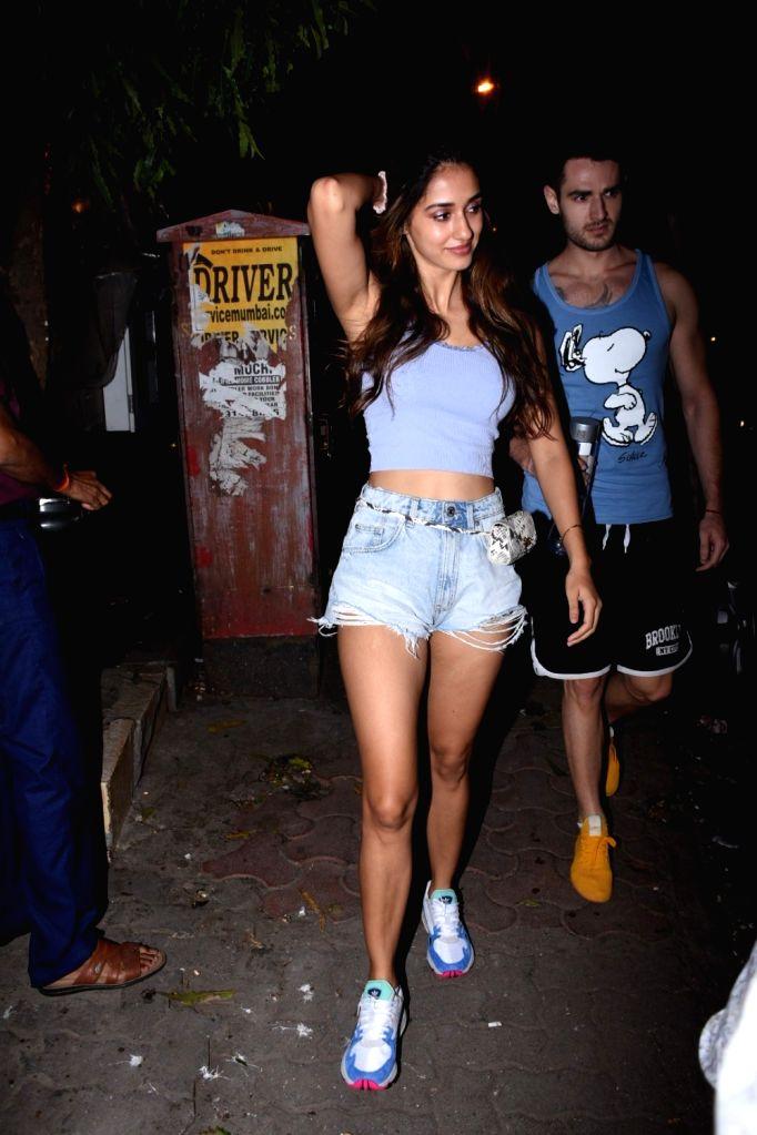Actress Disha Patani seen at Bandra in Mumbai on Aug 27, 2019. - Disha Patani