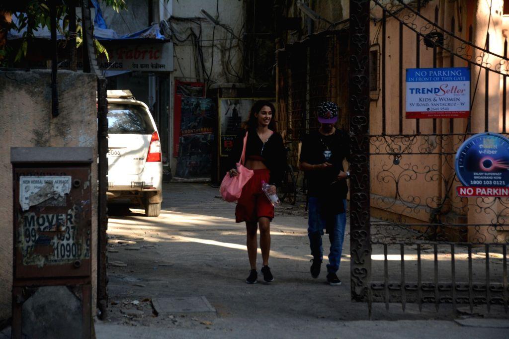 Actress Disha Patani seen at Mumbai's Bandra on Feb 15, 2019. - Disha Patani